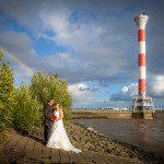 Hochzeitsfotos Elbstrand Elbe Hamburg