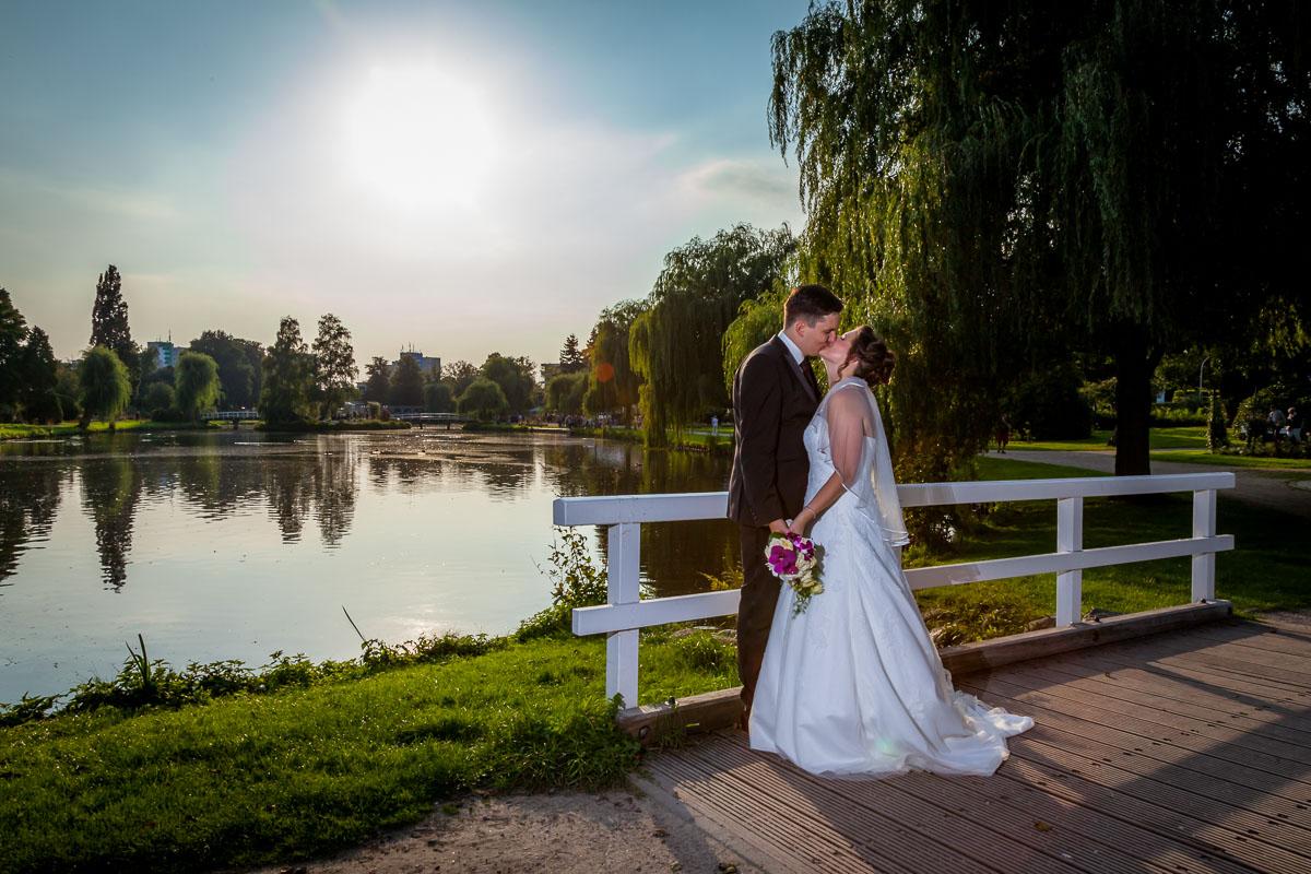Hochzeitsfotos Uetersen Rosarium Hochzeitsinsel